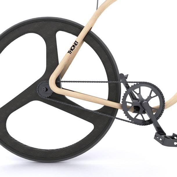 Thonet wooden fixie bike 3 Thonet Bike – An amazing wooden fixie bike
