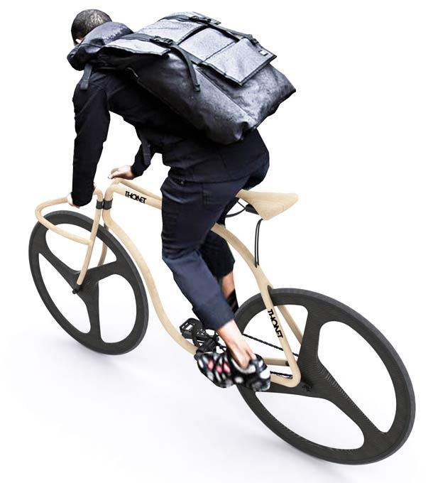 Thonet wooden fixie bike 5 Thonet Bike – An amazing wooden fixie bike